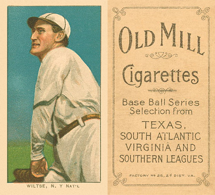 1909 White Borders (Old Mill) Hooks Wiltse #517 Baseball Card