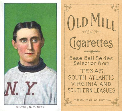 1909 White Borders (Old Mill) Hooks Wiltse #518 Baseball Card