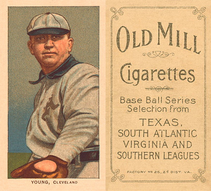 1909 White Borders (Old Mill) Cy Young #522 Baseball Card