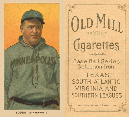 1909 White Borders (Old Mill) Irv Young #524 Baseball Card