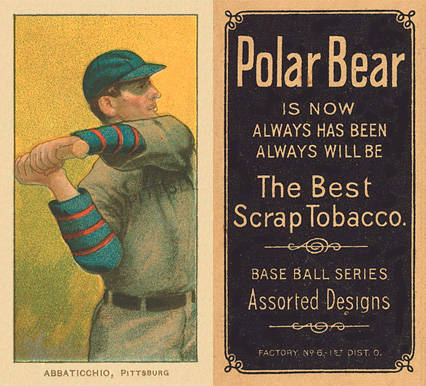 1909 White Borders (Polar Bear) Ed Abbaticchio #1 Baseball Card