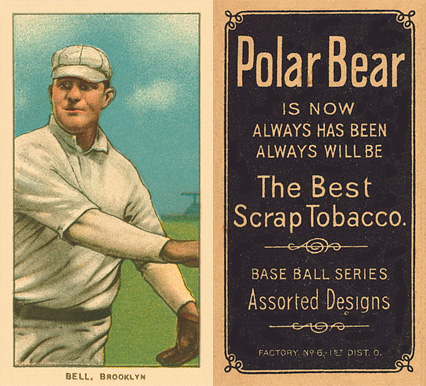 1909 White Borders Polar Bear Bell, Brooklyn #31 Baseball Card