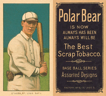 1909 White Borders Polar Bear O'Hara, St. Louis Nat'L #365 Baseball Card