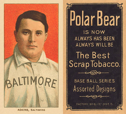 1909 White Borders (Polar Bear) Doc Adkins #5 Baseball Card