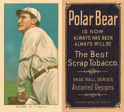 1909 White Borders (Polar Bear) Hooks Wiltse #517 Baseball Card