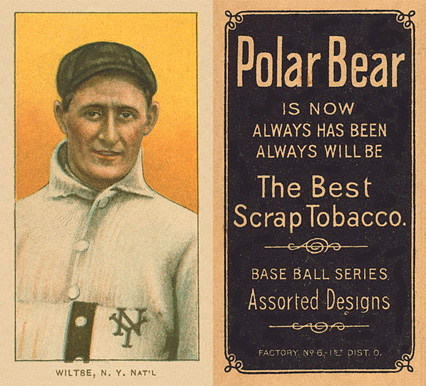 1909 White Borders (Polar Bear) Hooks Wiltse #519 Baseball Card