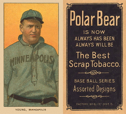 1909 White Borders (Polar Bear) Irv Young #524 Baseball Card
