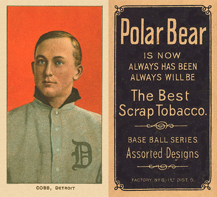 1909 White Borders (Polar Bear) Ty Cobb #96 Baseball Card
