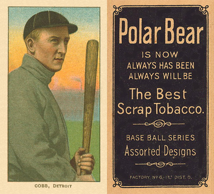 1909 White Borders (Polar Bear) Ty Cobb #98 Baseball Card