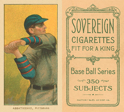 1909 White Borders (Sovereign) Ed Abbaticchio #1 Baseball Card