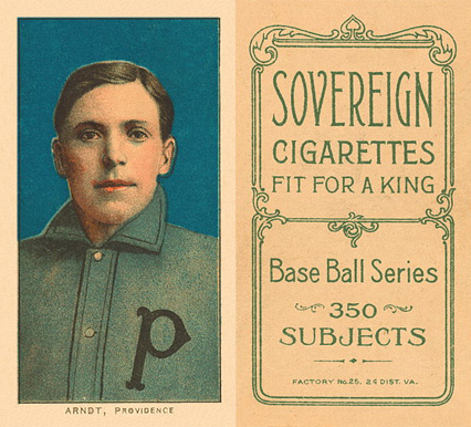 1909 White Borders (Sovereign) Harry Arndt #13 Baseball Card