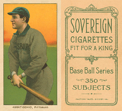 1909 White Borders (Sovereign) Ed Abbaticchio #2 Baseball Card