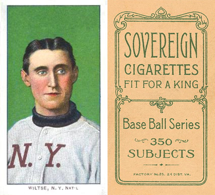 1909 White Borders (Sovereign) Hooks Wiltse #518 Baseball Card