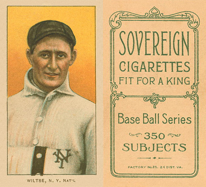 1909 White Borders (Sovereign) Hooks Wiltse #519 Baseball Card