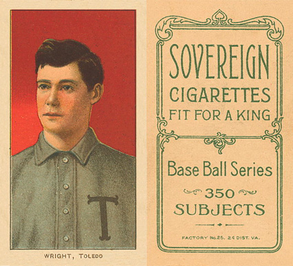 1909 White Borders (Sovereign) Lucky Wright #520 Baseball Card