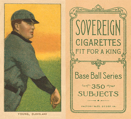 1909 White Borders (Sovereign) Cy Young #521 Baseball Card