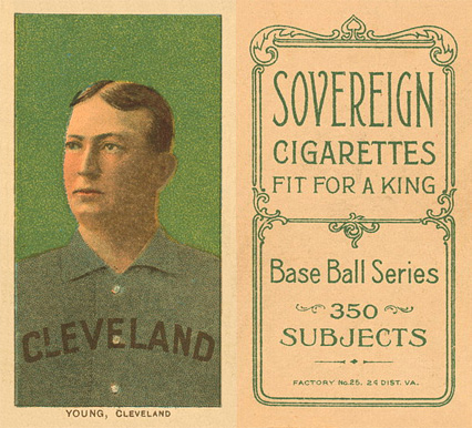 1909 White Borders (Sovereign) Cy Young #523 Baseball Card