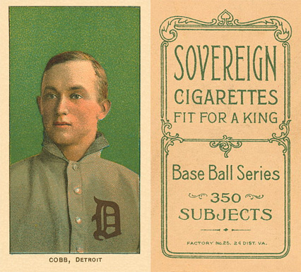 1909 White Borders (Sovereign) Ty Cobb #95 Baseball Card