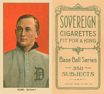 1909 White Borders Sovereign Cobb, Detroit #96 Baseball Card