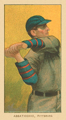 1909 T206 White Borders (Ghosts, Miscuts & Oddities) Ed Abbaticchio #1 Baseball Card