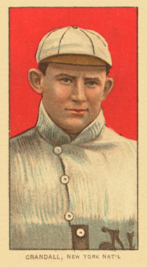 1909 White Borders Ghosts, Miscuts, Proofs, Blank Backs & Oddities Crandall, New York Nat'L #108 Baseball Card