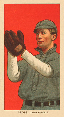 1909 White Borders Ghosts, Miscuts, Proofs, Blank Backs & Oddities Cross, Indianapolis #116 Baseball Card