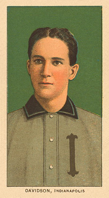 1909 White Borders Ghosts, Miscuts, Proofs, Blank Backs & Oddities Davidson, Indianapolis #119 Baseball Card