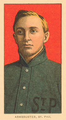1909 White Borders Ghosts, Miscuts, Proofs, Blank Backs & Oddities Armbruster, St. paul #12 Baseball Card