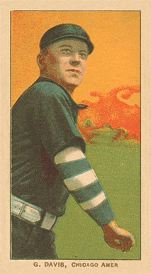 1909 White Borders Ghosts, Miscuts, Proofs, Blank Backs & Oddities G. Davis, Chicago Amer. #120 Baseball Card
