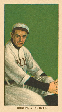 1909 White Borders Ghosts, Miscuts, Proofs, Blank Backs & Oddities Donlin, N.Y. Nat'L #132 Baseball Card