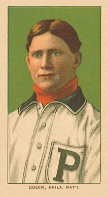 1909 White Borders Ghosts, Miscuts, Proofs, Blank Backs & Oddities Dooin, Phila. Nat'L #137 Baseball Card