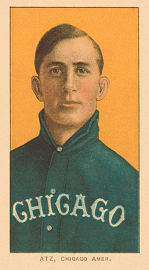 1909 White Borders Ghosts, Miscuts, Proofs, Blank Backs & Oddities Atz, Chicago Amer. #14 Baseball Card