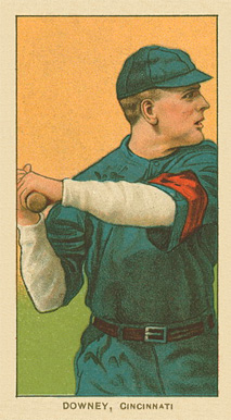 1909 White Borders Ghosts, Miscuts, Proofs, Blank Backs & Oddities Downey, Cincinnati #144 Baseball Card