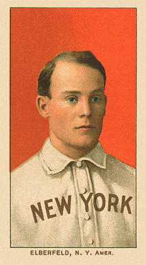 1909 White Borders Ghosts, Miscuts, Proofs, Blank Backs & Oddities Elberfeld, N.Y. Amer. #160 Baseball Card