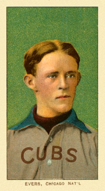 1909 White Borders Ghosts, Miscuts, Proofs, Blank Backs & Oddities Evers, Chicago Nat'L #166 Baseball Card