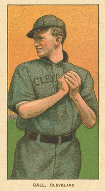1909 White Borders Ghosts, Miscuts, Proofs, Blank Backs & Oddities Ball, Cleveland #17 Baseball Card