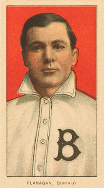 1909 White Borders Ghosts, Miscuts, Proofs, Blank Backs & Oddities Flanagan, Buffalo #174 Baseball Card