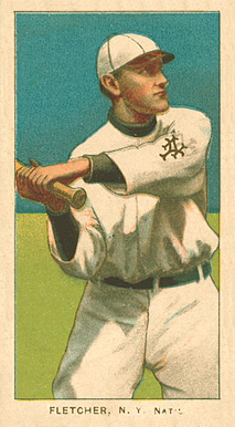 1909 White Borders Ghosts, Miscuts, Proofs, Blank Backs & Oddities Fletcher, N.Y. Nat'L #175 Baseball Card