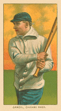 1909 White Borders Ghosts, Miscuts, Proofs, Blank Backs & Oddities Gandil, Chicago Amer. #183 Baseball Card