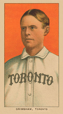1909 White Borders Ghosts, Miscuts, Proofs, Blank Backs & Oddities Grimshaw, Toronto #197 Baseball Card