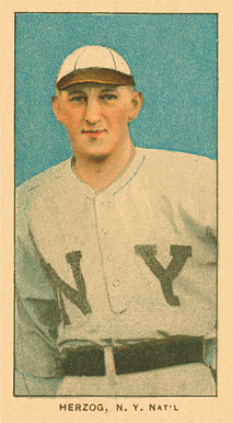 1909 White Borders Ghosts, Miscuts, Proofs, Blank Backs & Oddities Herzog, N.Y. Nat'L #211 Baseball Card