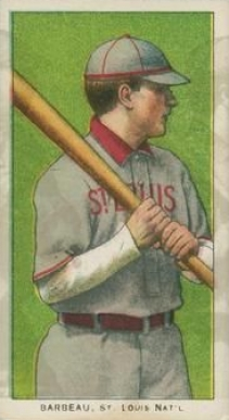 1909 White Borders Ghosts, Miscuts, Proofs, Blank Backs & Oddities Barbeau, St. Louis Nat'l #18 Baseball Card