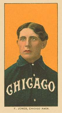 1909 White Borders Ghosts, Miscuts, Proofs, Blank Backs & Oddities F. Jones, Chicago Amer. #238 Baseball Card