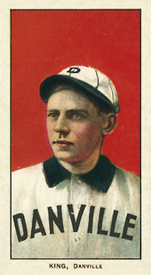 1909 White Borders Ghosts, Miscuts, Proofs, Blank Backs & Oddities King, Danville #253 Baseball Card