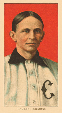 1909 White Borders Ghosts, Miscuts, Proofs, Blank Backs & Oddities Kruger, Columbus #267 Baseball Card