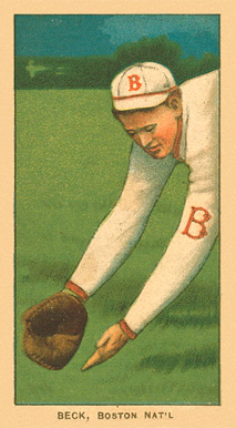 1909 White Borders Ghosts, Miscuts, Proofs, Blank Backs & Oddities Beck, Boston Nat'l #27 Baseball Card