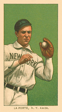 1909 White Borders Ghosts, Miscuts, Proofs, Blank Backs & Oddities LaPorte, N.Y. Amer. #275 Baseball Card