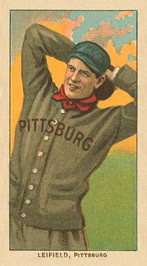 1909 White Borders Ghosts, Miscuts, Proofs, Blank Backs & Oddities Leifield, Pittsburgh #282 Baseball Card