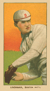 1909 White Borders Ghosts, Miscuts, Proofs, Blank Backs & Oddities Lindaman, Boston Nat'L #286 Baseball Card
