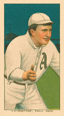 1909 White Borders Ghosts, Miscuts, Proofs, Blank Backs & Oddities Livingstone, Phil. Amer. #288 Baseball Card